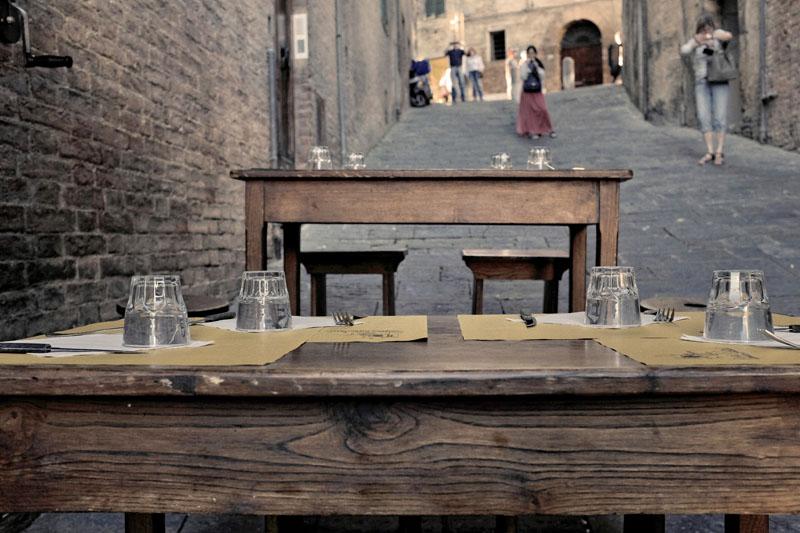 Tables en pente