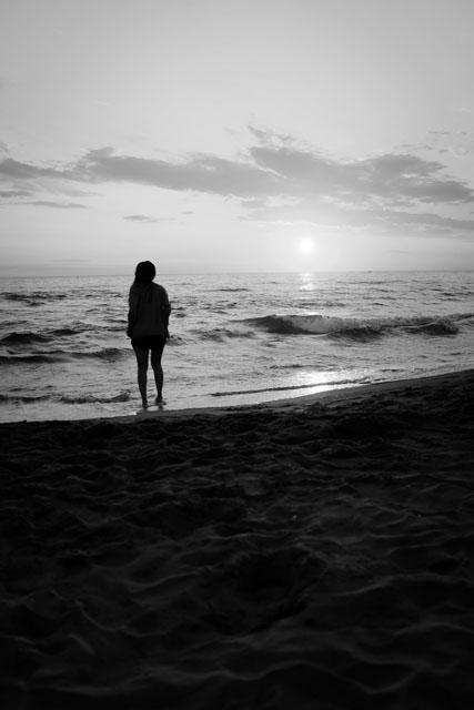 crepuscule de mer